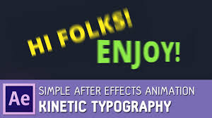 tutorial kinetic typography after effects simple kinetic typography in after effects tutorial youtube