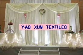 Curtains Wedding Decoration Ivory Color Wedding Backdrop Stage Curtains Wedding Decoration