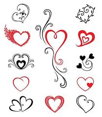 nice small heart tattoos designs