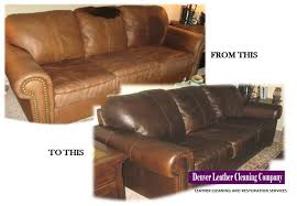 Leather Sofa Dyeing Service Denver Leather Cleaning Company Leather Restoration Before And