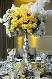 Feather Vase Centerpieces by Tall Flower Arrangements Wedding Centerpiece Designs Inside