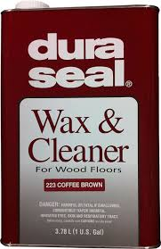 amazon com dura seal wax cleaner coffee brown gallon