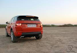 orange range rover driving the range rover evoque from mumbai to the rann of kutch