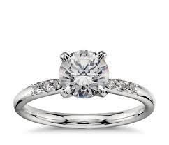 1 carat engagement rings 1 carat preset diamond engagement ring in platinum blue nile