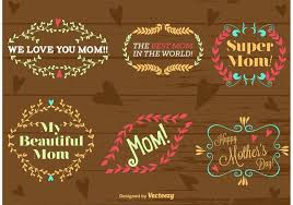 happy s day type ornaments free vector