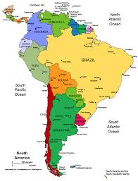 map of central and south america with country names south america map of countries south america other maps maps of