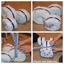 diy baby shower gifts made from diapers tricycle diaper cake