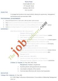 resume objective for retail management sales resume objective