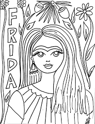 free frida kahlo coloring pages she would have been 110 today