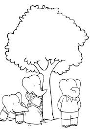 babar free cartoon coloring pages playing football cartoon