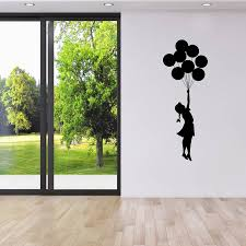 banksy balloon girl wall sticker banksy wall stickers wall are you interested in our banksy wall sticker with our banksy escapism wall stickers you
