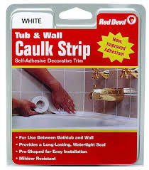 amazon com red devil 0150 medium white tub u0026 wall caulk strip 7 8
