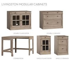 Corner Desk Pottery Barn Build Your Own Modular Livingston Collection Pottery Barn