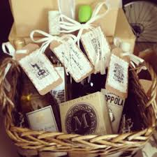 bridal shower wine basket photo bridal shower gift basket image