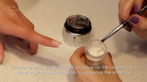 flawless gel nails french white tip stardust pink tutorial by