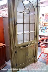 custom corner cabinet fabulously finished