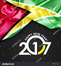 Guyana Flag Royalty Free Happy New Year 2017 Guyana Flag 3d U2026 512462284 Stock