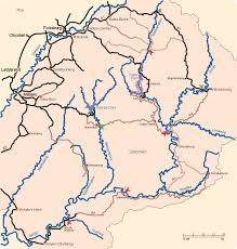 Lesotho Map Other Rivers Of Lesotho Celliers Kruger