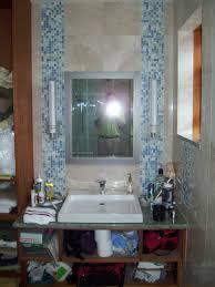 bathroom bathroom tiled walls with two vertical mosaic