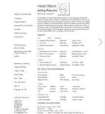 Theater Resume Sample by The 25 Best Acting Resume Template Ideas On Pinterest Resume