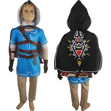 kids boys legend of zelda breath of the wild link uniform