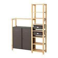 ivar ikea ivar 2 sections shelves cabinet pine grey 134x30x179 cm ikea