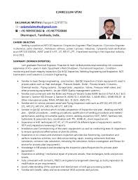 Ndt Technician Resume Sample by Qc Inspector Resume Format Contegri Com