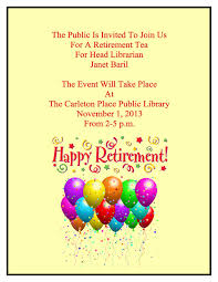 retirement announcement janet baril s retirement announcement carleton place local history