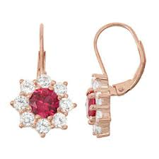 ruby drop earrings ruby drop earrings earrings for jewelry watches jcpenney