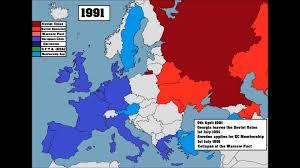 European Union Map 60 Years Of The European Union 1955 2015 Youtube