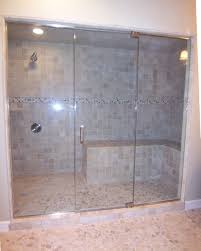 bathroom design of the corner shower doors glass with frameless bathroom