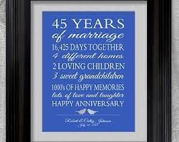 45th anniversary etsy