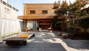 courtyard house blue ant studio