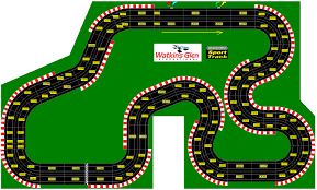 race track racing circuits in miniature slot cars