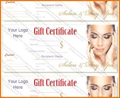 custom gift certificates spa gift certificate template spa gift certificate templates fr