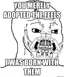 Feel Meme Pictures - you merely adopted the feels i was born with them feels baine