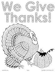 free thanksgiving turkey q tip painting printable