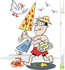 dessin animé drôle de plage image libre de droits image 13534966