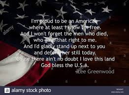 Flag Day Songs Proud To Be An American Lyrics From Lee Greenwood Song Over An