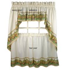 Tier Curtains Kitchen by Decor White And Brown Tier Kitchen Curtains Walmart For Kitchen