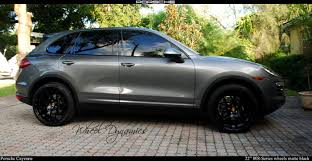 porsche cayenne matte grey wheel dynamics