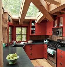 red cabinets in kitchen red country kitchens atticmag