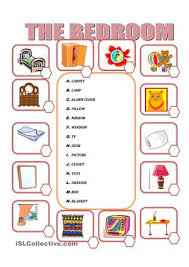 furniture in the bedroom worksheet free esl printable worksheets