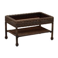 Wicker Patio Coffee Table Hton Bay Mix And Match Brown Wicker Outdoor Coffee Table 65
