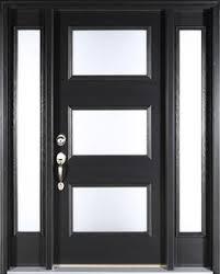 Fiberglass Exterior Doors With Glass Contemporary Black Front Door Clopay Energy Smooth