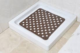 non skid square shower mat with holes 20 non skid square shower mat with holes solid brown