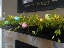 Easter Mantel Decorating Ideas Pinterest by 25 Best Spring Garland Images On Pinterest Mantles Burlap