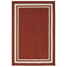 loop rugs border loop garnet 5 ft x 8 ft area rug 513832 the home