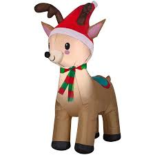 christmas inflatables outdoor airblown christmas reindeer 3 5 walmart