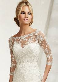 wedding dress jacket mori 11014 lace embroidered bateau neck bridal jacket